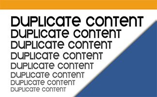 Duplicate content – Contenu dupliqué