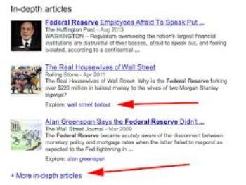 Google affichera désormais des articles de fond lors de tous les requêtes