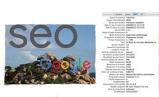 Google utilise les infos Exif d'une image comme signal de positionnement